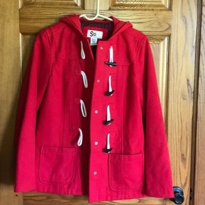 Hooded toggle jacket